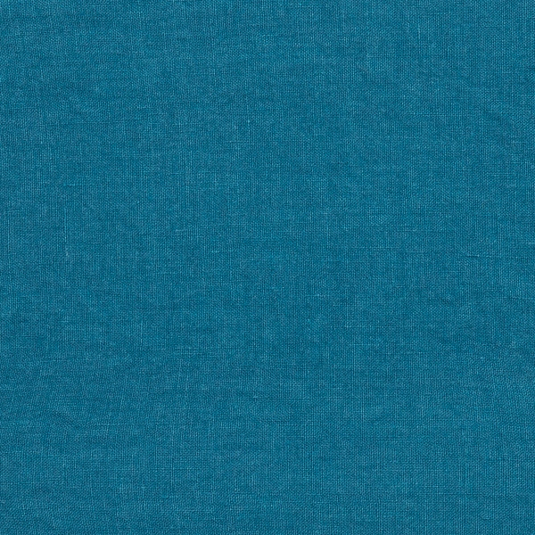 Sea Blue Linen Fabric Sample Stone Washed- LinenMe