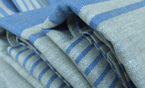 Huckaback Towel Blue