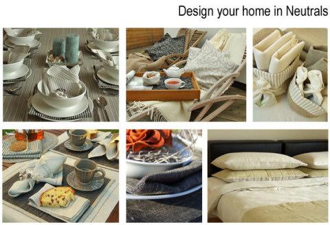 Luxury linen home in neutrals