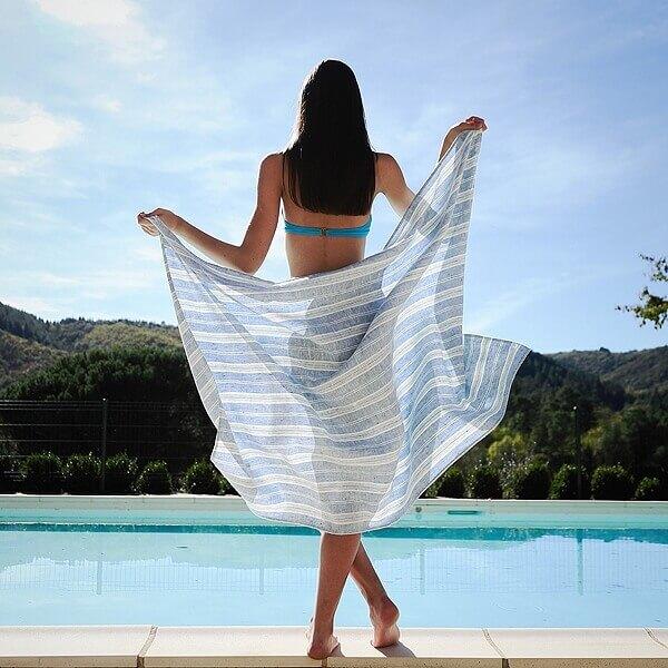 linen beach towel - LinenMe