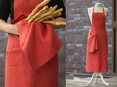 Linen Aprons for Barbeque