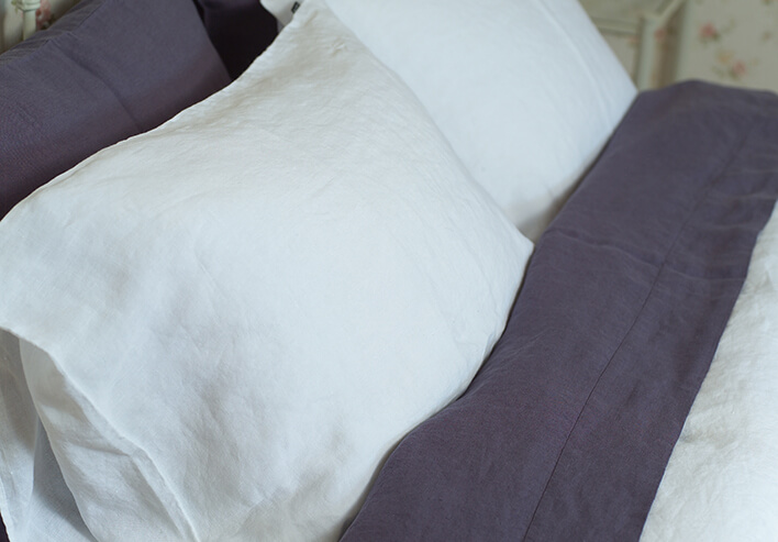 washed bed linen