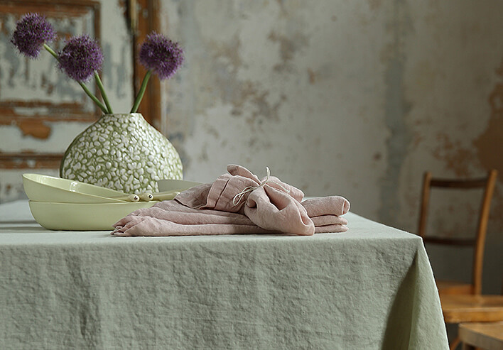 LinenMe Stone washed Table linen