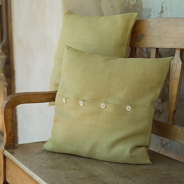 Lara Celery Cushion covers - LinenMe