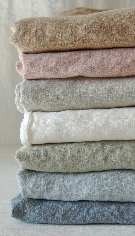 coloured linen textiles - about linen