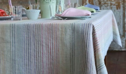 Linen Rainbow tablecloth