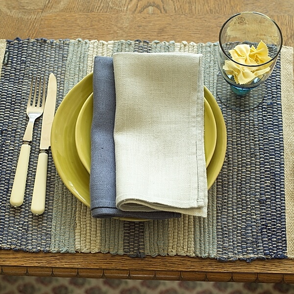 Linen Placemats for Easter Table