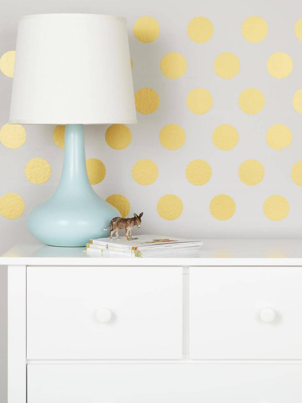 Ideal CI Land of Nod dots decal gold kids