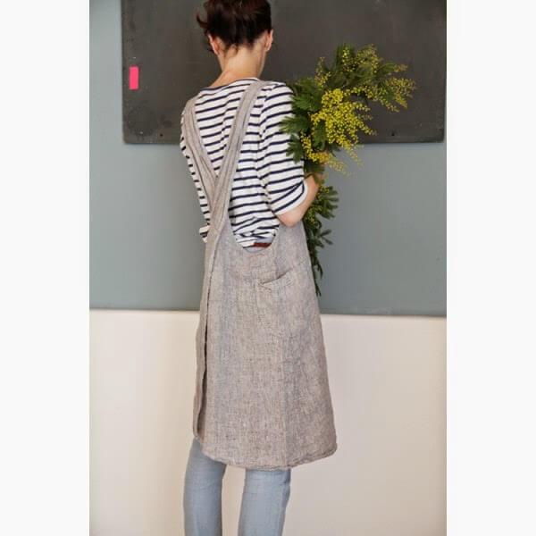 japanese-washed-linen-apron-light-gray-mottled - craft ideas