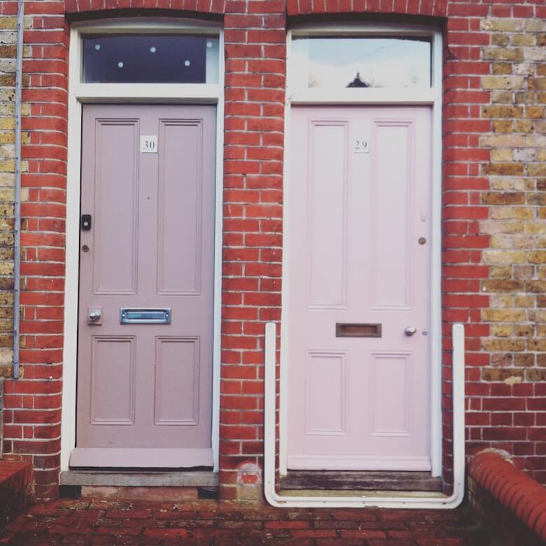 pink door paint
