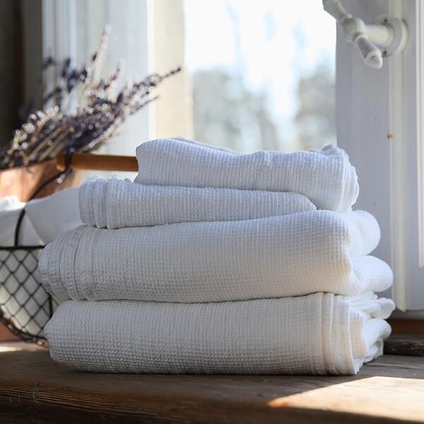white-waffle-linen-towel
