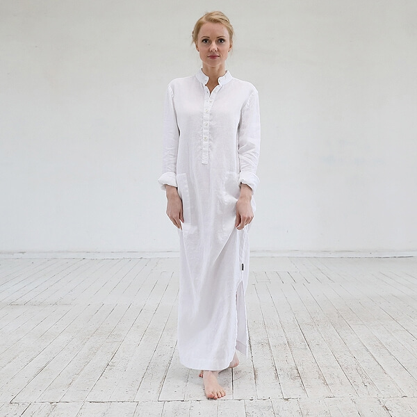 long linen dress - linen clothes - LinenMe
