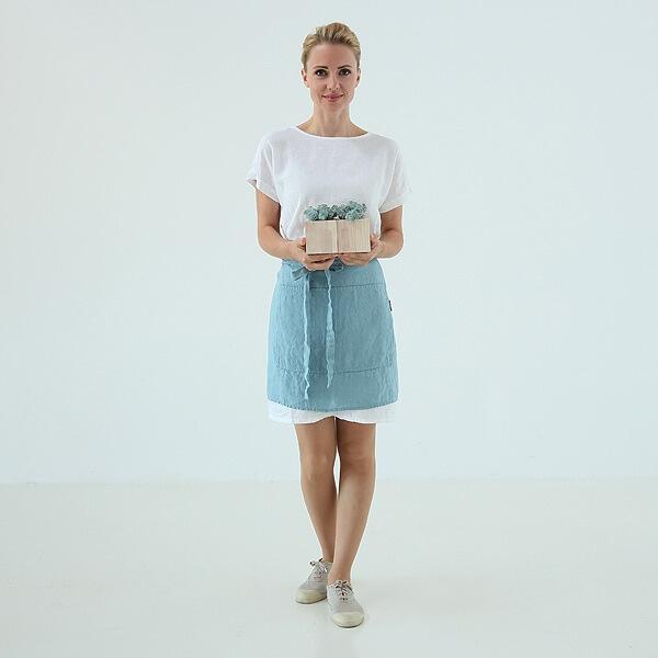 summer linen cafe apron LinenMe