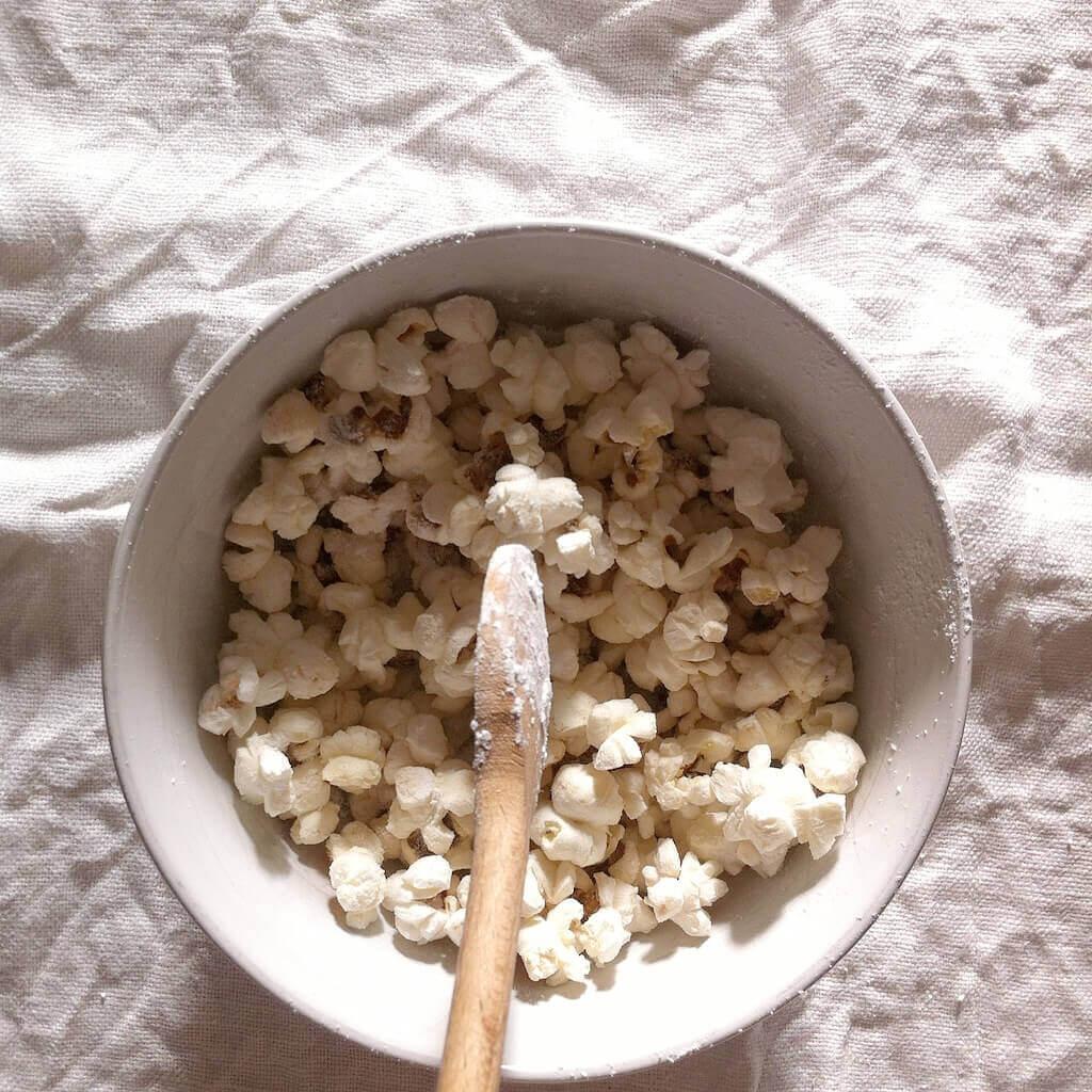 Popcorn movie night - family rituals