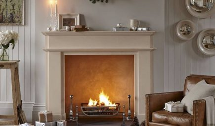 fireplace winter cosy living