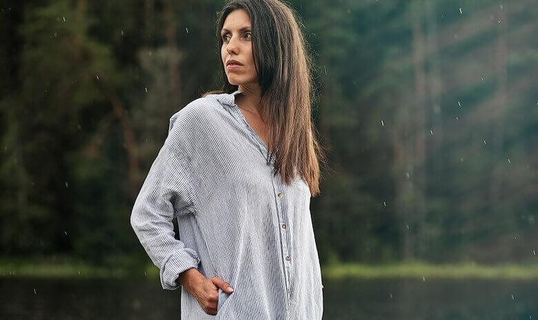 shirt dress linen - LinenMe