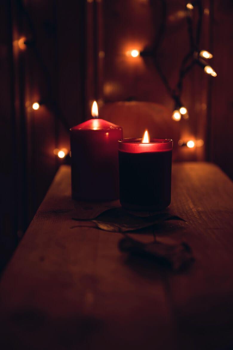 candlelight bathroom refresh