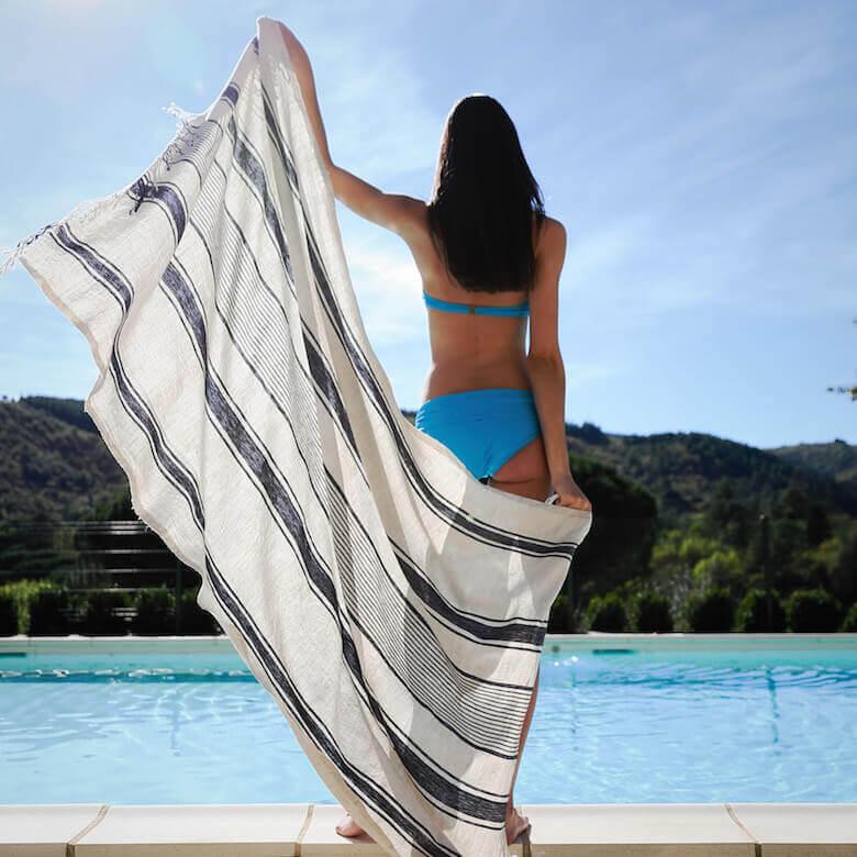 linen beach towel - Linen Essentials
