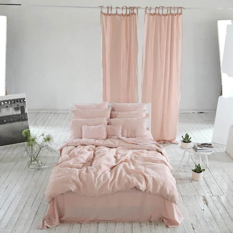 rosa linen textiles - Curtains - LinenMe