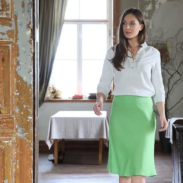 linen midi skirt - LinenMe