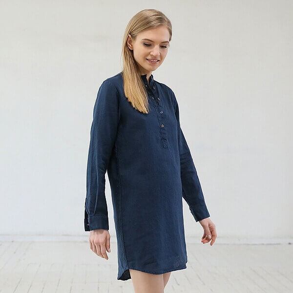 linen nightdress nightgown - linen sleapwear