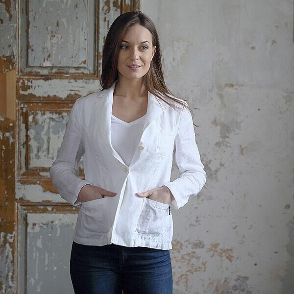linen jacket blazer - Linen Clothes - LinenMe