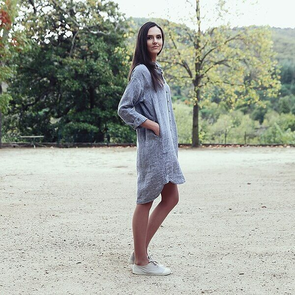 linen shirt dress - Linen Clothes - LinenMe