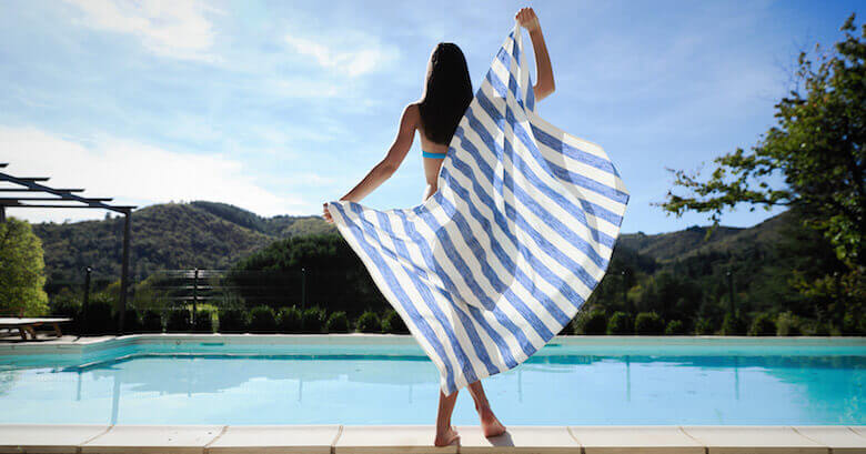 Summer linen beach towels - travel essentials