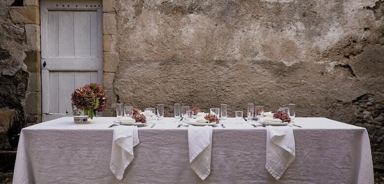 linen table linen summer