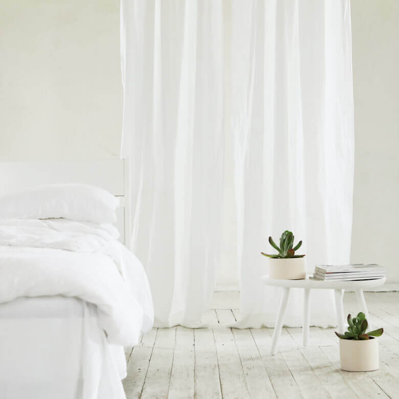 white linens - curtains drapes