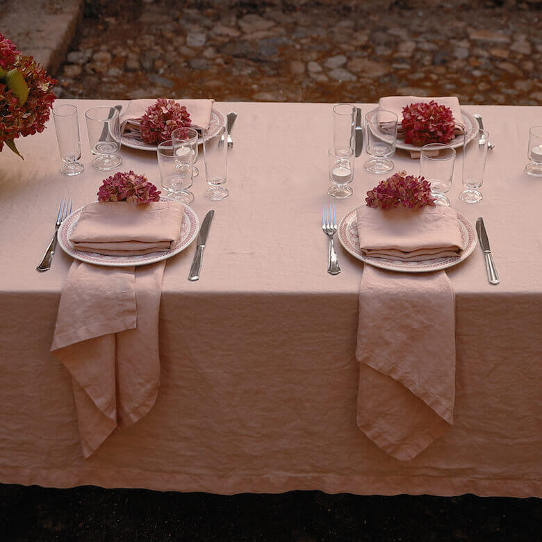 Stonewashed table linen summer - LinenMe