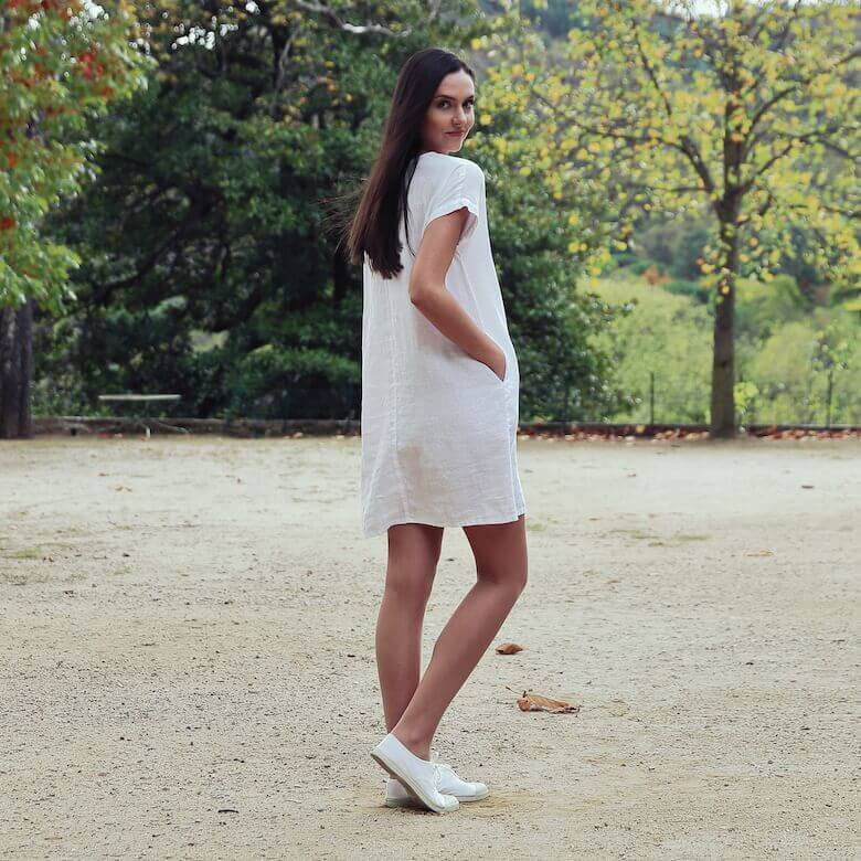 white linens tunic dress summer