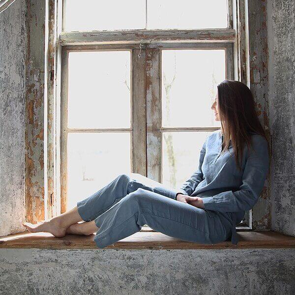 linen pyjamas fall autumn - home linen