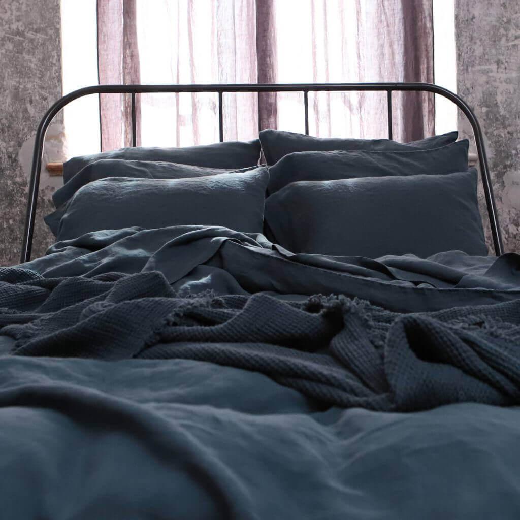 linen bedding autumn fall