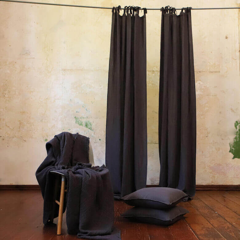 linen curtains linen throws - LinenMe