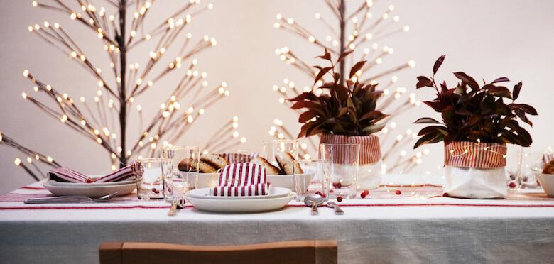 linen tablecloth christmas