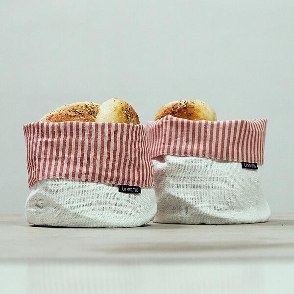 kitchen organising linen basket