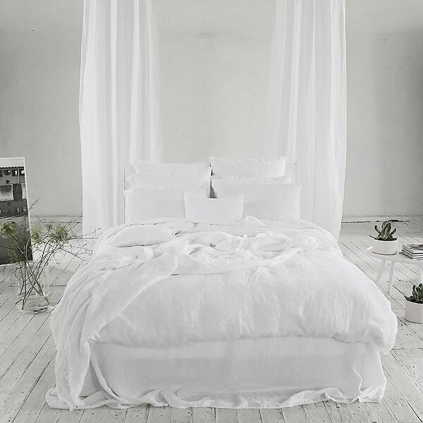 linen bedlinen minimalist decor