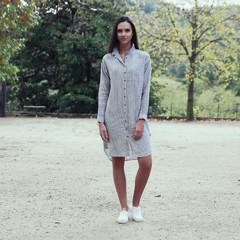 linen shirt dress - LinenMe