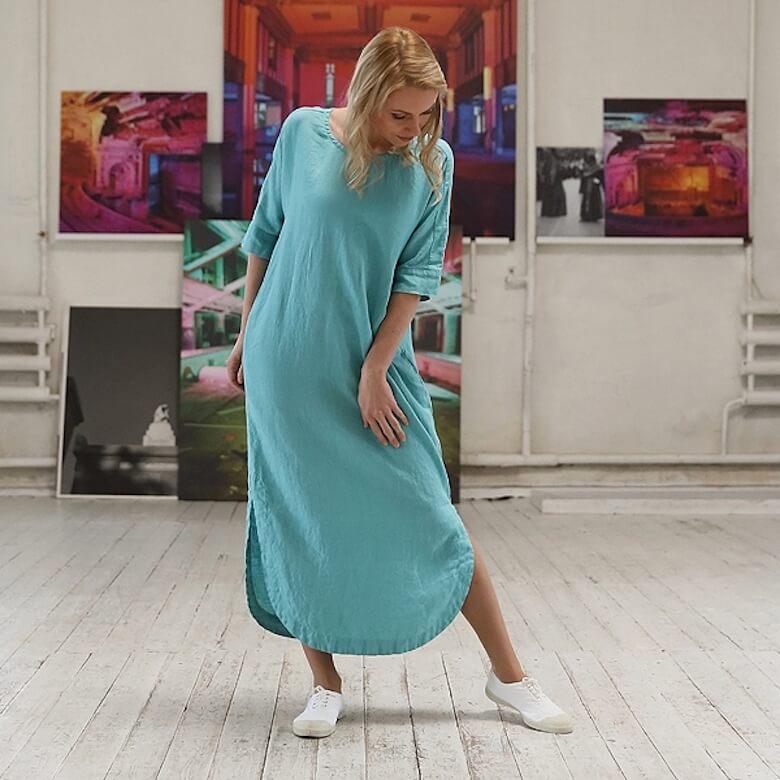 linen maxi dress summer - LinenMe