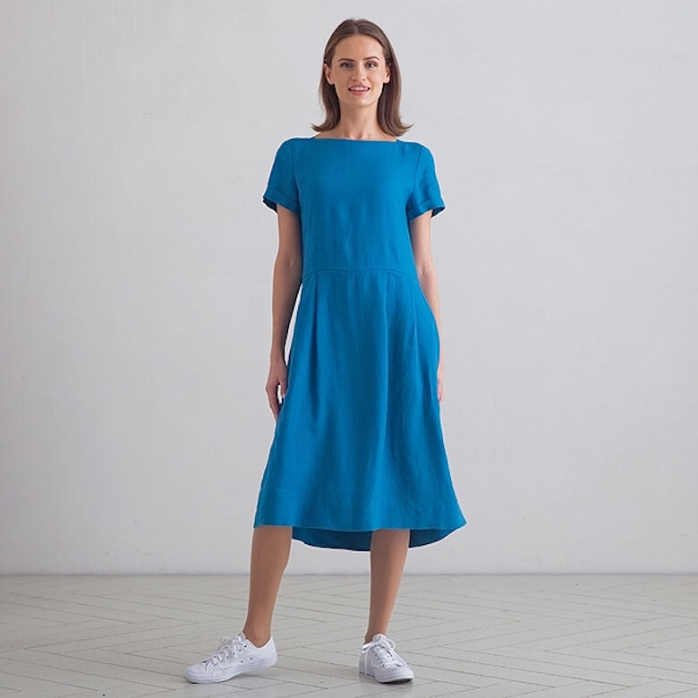 linen midi dress summer - LinenMe