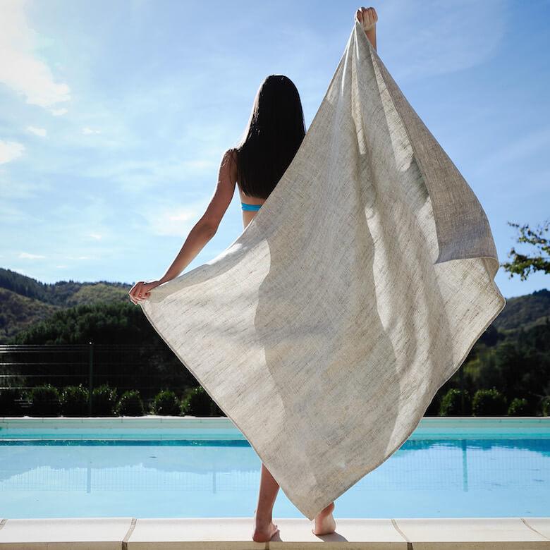 Beach Trip - linen beach towel