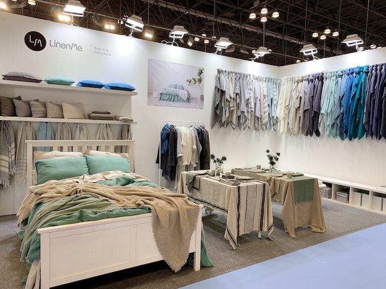 NYNOW Show -  LinenMe home textiles