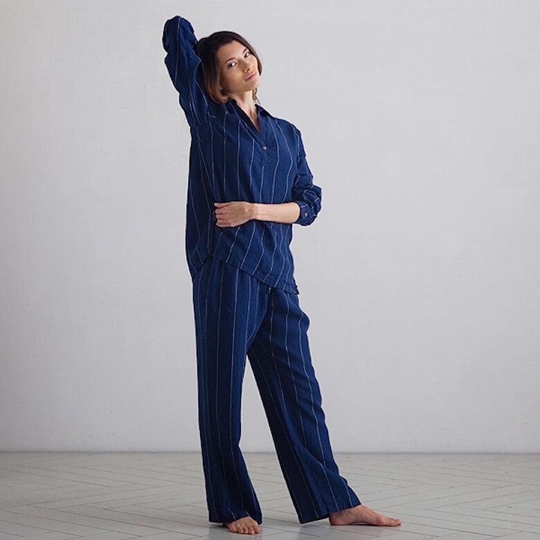 linen pyjamas christmas