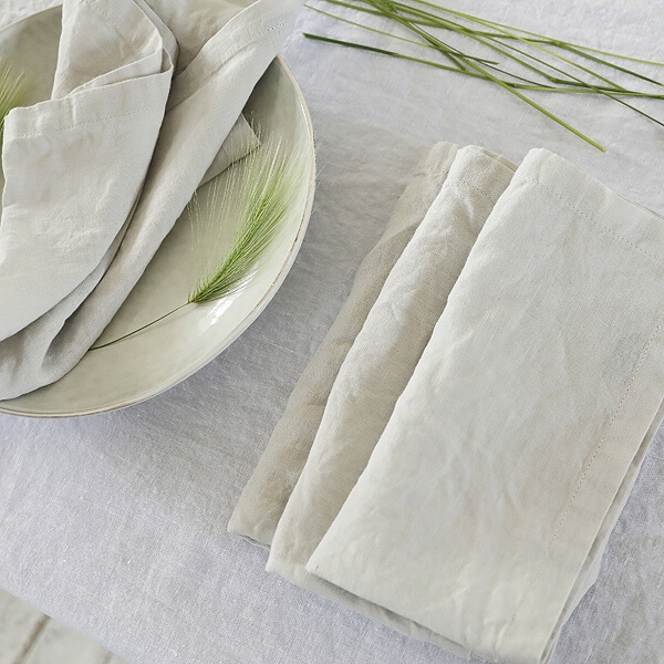 DIY beeswax wrap linen napkin