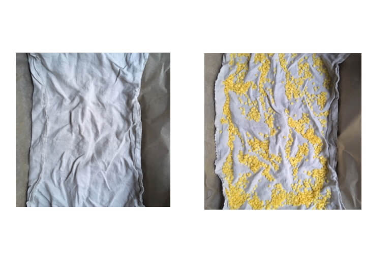 make your own beeswax wrapper linen