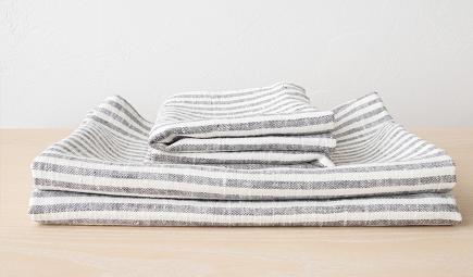 Linen Bath Towel Set Graphite LinenMe