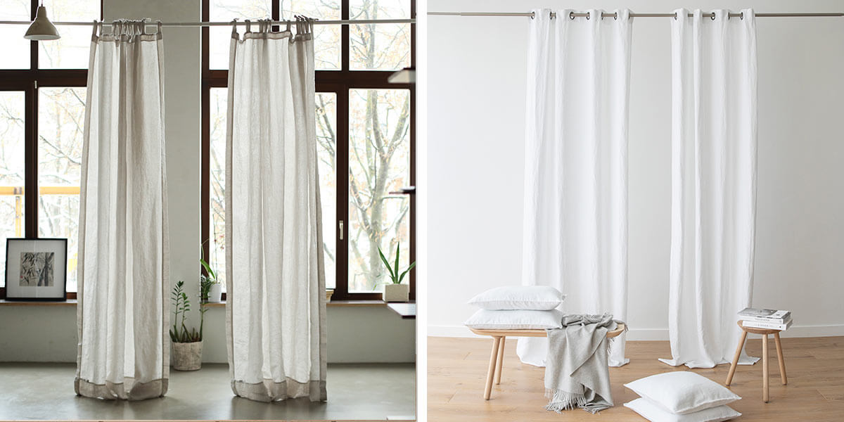 linen curtains for spring