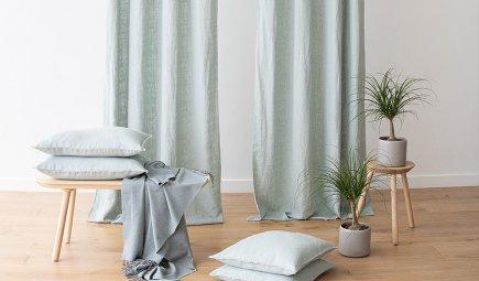 LinenMe Terra Curtains Sea Foam