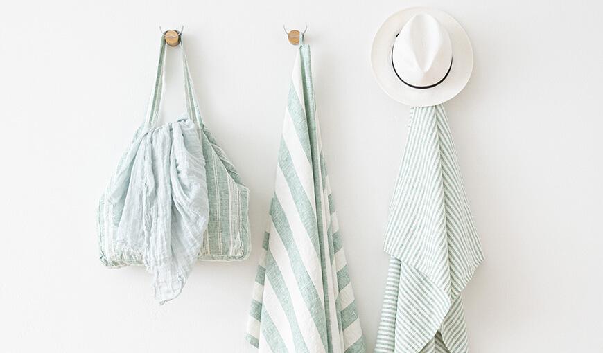 LinenMe Beach Towels Mint